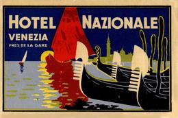 Venezia - Italia Italy Italie - Hotel Nazionale - Luggage Label Etiquette Valise - Hotel Labels