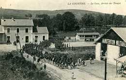LA COURTINE = La Gare , Arrivée Des Troupes .   1327 - La Courtine