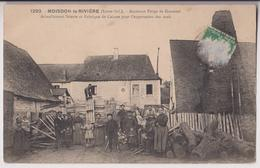 MOISDON LA RIVIERE (44) : FORGE DE GRAVOTEL - FABRIQUE DE CAISSES POUR LES OEUFS - SCIERIE - PLANCHES - 2 SCANS - - Moisdon La Riviere