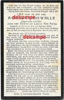 OORLOG Guerre Achiel Vandewalle Aarsele Opgeeiste Soldaat Gesneuveld Te Dadizele Kleppe Okt 1917 Van Parijs - Santini