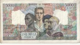 5000 Francs  Empire Français 26-4-1945 (ttb) - 5 000 F 1942-1947 ''Empire Français''