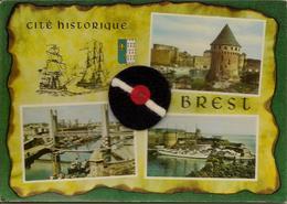 CPM Brest , Cité Historique, Multivues, Pompon En Tissus - Brest