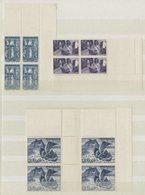 MONACO N° 265 à 273 (x4) Cote 100 € Neufs ** (MNH). Série Complète En Bloc De Quatre, Tous Avec Un Coin De Feuille. TB - Monaco