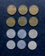 50 Centimes MORLON Bronze-alu Et Alu - Lot De 12 Pièces Toutes Différentes - G. 50 Centesimi
