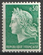 France 1967 N° 1536 Ab Marianne De Cheffer Numéro Rouge Au Dos Roulette 1 50 (F14) - 1967-70 Marianna Di Cheffer