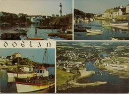 CPM Clohars Carnoët, Le Port De Pêche De Doelan (multivues) - Clohars-Carnoët