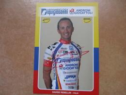Cyclisme Photo Signee Davide Rebellin - Cyclisme