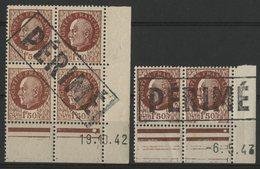 """N° 517 ** (MNH). Coin Daté Du 19/10/42 """"Pétain"""" Avec Cachet """"PERIME"""" Lire Description - 1940-1949"""