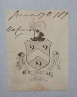 Ex-libris Héraldique - XVIIIème - RIDER - Bookplates