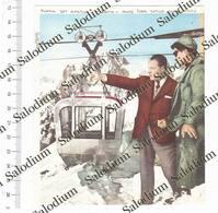 CONTE LORA TOTINO PROGETTO FUNIVIA DEI GHIACCIAI MONTE BIANCO  - Immagine Ritagliata Da Pubblicazione Originale D'epoca - Victorian Die-cuts