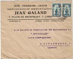 LCTN59/ALS 2 BB - BELGIQUE LETTRE COMMERIALE LIEGE / STRASBOURG 17/3/1921 - Belgique