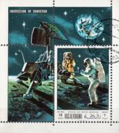 Ras Al Khaima 1969 Bf. 92A Apollo XII Moon Mission Surveyor Sheet Perf. CTO - Ra's Al-Chaima