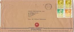HONG KONG ENVELOPE, CIRCULATED 1988. TO WOOD RIDGE, U.S.A.. COMMERCIAL COVER -LILHU - Hong Kong (...-1997)