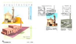 FDC - ARQUITECTURA - AÑO 2006 - Nº EDIFIL 4244-45 - 1931-Tegenwoordig: 2de Rep. - ...Juan Carlos I