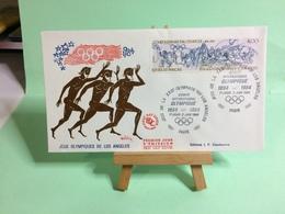 Jeux Olympique De Los Angeles - Paris - 2.6.1984 - FDC 1er Jour Coté ..€ - FDC