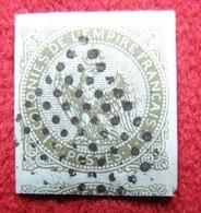 COLONIES GÉNÉRALES N°1 OBL LOSANGE 9X9 DE PONDICHERY  INDE SUPERBE - Aigle Impérial