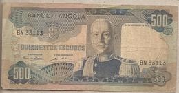 Angola - Banconota Circolata Da 500 Scudi P-102 - 1972 #18 - Angola