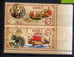 ESTONIE EESTI 2003, Bateaux Et Monnaies, 2 Valeurs, Neufs / Mint. R349 - Estonia