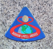 """NASA Apollo Program Apollo 8 Borman Lovell Anders Patch US Space 4"""" Embroidered - Patches"""