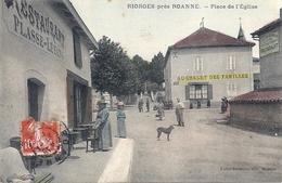CPA 42 RIORGES Place De L'Eglise - Riorges