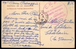 """1945 LA QUEUE Lez YVELINES (78) - Rare Cachet CRF """"CENTRE CONVALESCENCE DEPORTES POLITIQUES - LA COUHARDE"""" - Marcophilie (Lettres)"""