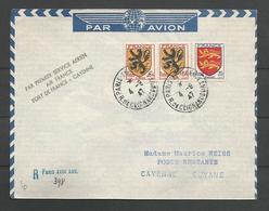 France - Aérophilatélie - Lettre 04/09/47 Vers Cayenne - Cachet 1er Service Aérien - Marcophilie (Lettres)