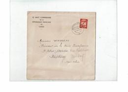 LCTN59/ALS 2BB - SARRE LETTRE OFFICIELLE A DESTINATION DE STRASBOURG - 1947-56 Protectorate