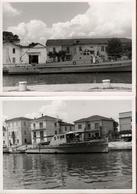 2 Photos Originales Petit Bâtiment Militaire Frégate à Identifier à Quai Vers 1960/70 - Bateau Fluvial - Boats