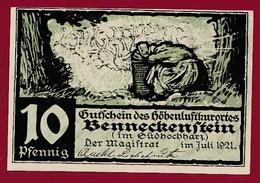 Allemagne 1 Notgeld De 10 Pfenning  Stadt Benneckenstein (SERIE COMPLETE --5-10-25-50-75) Dans L 'état   N °5629 - Collections