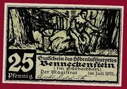 Allemagne 1 Notgeld De 25 Pfenning  Stadt Benneckenstein (SERIE COMPLETE --5-10-25-50-75) Dans L 'état   N °5630 - Collections