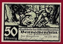 Allemagne 1 Notgeld De 50 Pfenning  Stadt Benneckenstein (SERIE COMPLETE --5-10-25-50-75) Dans L 'état   N °5631 - Collections