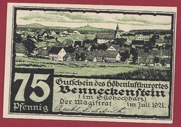 Allemagne 1 Notgeld De 75 Pfenning  Stadt Benneckenstein (SERIE COMPLETE --5-10-25-50-75) Dans L 'état   N °5632 - Collections