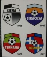 Figurina Micro Calcio Vallardi 90-91 1991 Scudetti Stemmi Siena SIracusa Ternana Torres Numero 145 - Altri