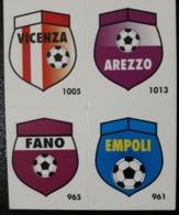 Figurina Micro Calcio Vallardi 90-91 1991 Scudetti Stemmi Vicenza Arezzo Fano Empoli Numero 140 - Altri