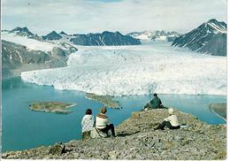 CARTOLINA NORVEGIA 1971 - SVALBARD - SPITSBERGEN- BLOMSTRANDBREEN - KONGS FJORD  VIAGGIATA - Norvegia