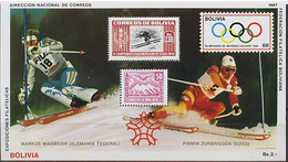 Bolivia, Alpine Ski, 1987, Olympic 1988, Block 25 Euro, S/s # 167 - Winter 1988: Calgary