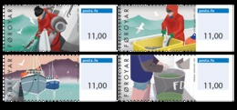 Faroe Islands - 2019 - Coastal Fishing - Mint Self-adhesive ATM Stamp Set - Faroe Islands
