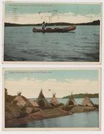 Amérique - Indiens - Vancouver - 2CP - Campement - Lac Ontario - Native Americans
