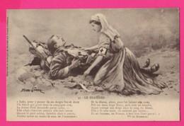 CPA (Réf: Z 2643) (MILITARIA , GUERRE 1914 1918) Infirmière Croix Rouge Avec Blessé - Guerra 1914-18