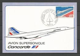 France - Aérophilatélie - Carte Souvenir Concorde 1er Jour Paris Rio De Janeiro - Marcophilie (Lettres)