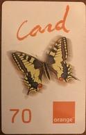 ANTILLES FRANCAISES - France Caraïbes Mobile - Orange - Papillon - 70 - Antillas (Francesas)