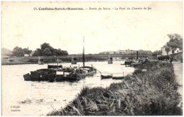 78 CONFLANS-SAINTE-HONORINE - Bords De Seine - Le Pont Du Chemin De Fer - Conflans Saint Honorine