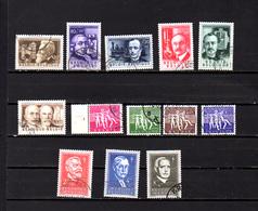 Belgique 1955, Les Inventeurs, Antituberculeux, Les Joies Du Printemps, 973 / 985, Cote 60 € - Belgique
