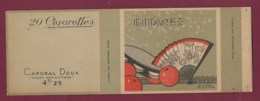 140120D - TABAC EMBALLAGE Cartonné Cigarette - GITANES Caporal Doux 4F25 20 Cigarettes - éventail Orange Tambourin Giot - Zigarettenzubehör