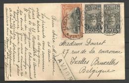 CONGO BELGE - CP Du 30/09/1930 De Elisabethville à Bruxelles - Verso La Cathédrale - Belgisch-Kongo