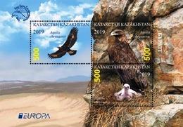 Kazakhstan 2019 Europa National Birds Golden Eagle SS MNH - 2019