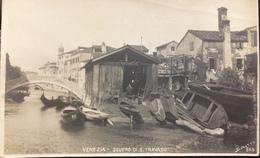"""VENEZIA..."""" Squero Di S. Travaso """" Cartolina Fotografica Firmata Sciutto...no.865 - N.P.G. - Venezia (Venice)"""