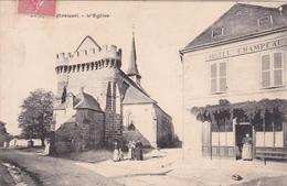"""23- BONNAT- L'EGLISE- """"HÔTEL CHAMPEAU""""- Ecrite-Timbrée-23/6/1907-- (14/1/20) - Frankrijk"""