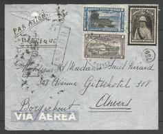 CONGO BELGE - Lettre Du 14-01-1935 - Par Avion De Costermansville Vers Borgherhout Via Kampala - Congo Belge