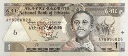 Ethiopia 1 Birr, P-46a (1989/1997) - UNC - Aethiopien